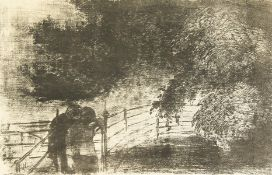 Edward Ardizzone (1900-1979) British, 'Lovers Under a Great Beech', lithograph, limited edition 5/