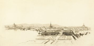 Early 20th century Austrian School, a view of Vienna, Etching, signed and titled 'Wien' in pencil,