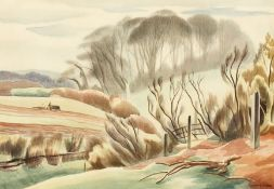 """Clifford Webb (1895-1972), A farmer ploughing, lithograph, 10"""" x 14"""" and another in the manner of"""