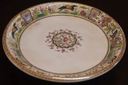 Late Victorian Davenports Iolanthe cheese dish on stand D 31cm