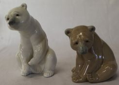 2 Lladro polar bears