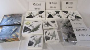 Selection of boxed Atlas Editions model aircraft