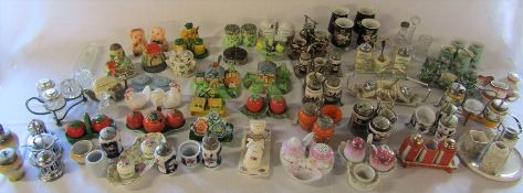 Large selection of cruet sets and salt and pepper pots (2 boxes) (some af)