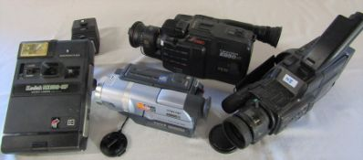 Various video and camera equipment inc Kodak EK160-EF camera, Canovision E850 Hi, Sony handycam