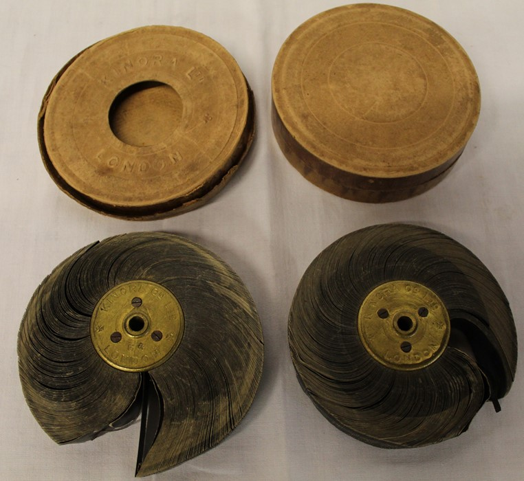 Lot 350 - 2 Kinora picture reels #64 & #44 in card cases