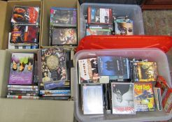 5 boxes of assorted DVDs and box sets inc Sopranos, Charles Dickens, Cutting It etc