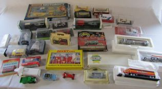 Various boxed die cast cars and lorries etc