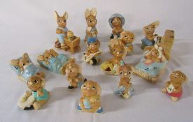 Quantity of Pendelfin rabbit figures (16)
