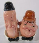 Beswick Laurel & Hardy cruet set on stand no 575