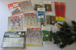 Box of model railway accessories