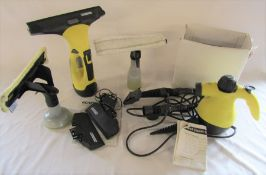 Karcher window vac & a Coopers hand steam cleaner