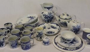 Selection of Royal Worcester Hanbury & Rhapsody tableware, replica blue sprays jugs & Spode Blue