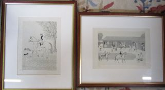 2 Vincent Haddelsey (1934-2010) framed limited edition lithographic prints on Arches d'Velin