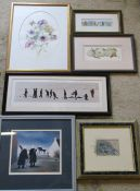 Selection of paintings and prints (sample shown)