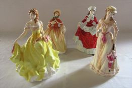 Set of 4 Royal Doulton figurines - the four seasons - Spring HN 5321, Summer HN 5322, Autumn HN 5323