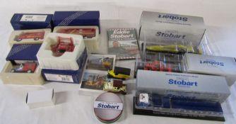 4 Corgi Royal Mail millenium collection die cast vehicles, 3 Atlas Edition Stobart collectables