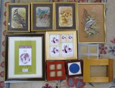 Assorted animal prints inc watercolour of a kingfisher together with assorted frames (sample shown)