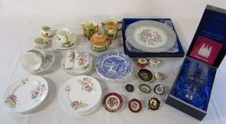 Assorted ceramics and glassware inc Shelley 'Wild flowers' part tea service, Wedgwood Christmas