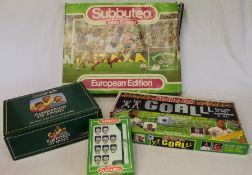Subbuteo Table Soccer European Edition (incomplete), pack of Subbuteo figures, Strike for Goal