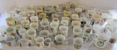 Large quantity of mainly vintage commemorative ware and 1919 Peace ware inc Shelley, Aynsley,