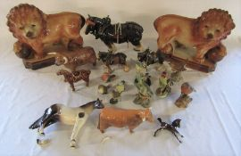 Various animal figures inc Beswick and Country Artists (some af)