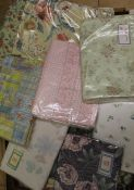 Quantity of duvet covers & curtains (2 boxes)