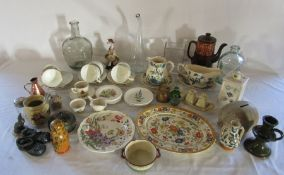 2 boxes of various ceramics and glassware inc Poole, Wedgwood and Masons