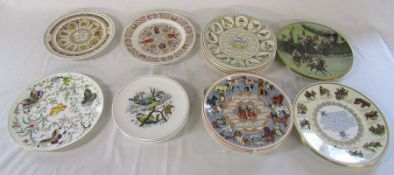 Assorted collectors plates inc Royal Worcester 'Exotic Butterflies', Wedgwood calendar plates,