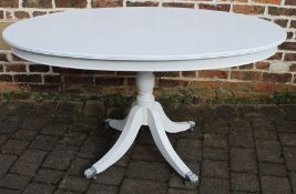 Victorian style white painted oval table