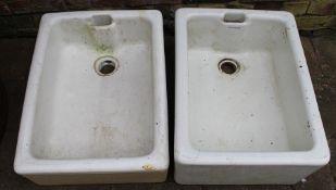 2 Belfast sinks