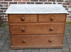 Victorian marble top chest of drawers