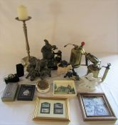 Various ceramics, pocket watches and brassware inc Sievert etc