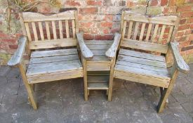Two seater garden bench / love seat