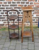 Edwardian plant stand & a cake stand