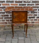 Early 20th century pot cupboard with drop leaves