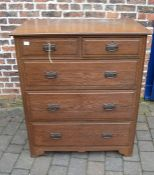 Victorian oak chest of drawers