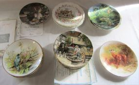 Selection of collectors plates inc Coalport, Wedgwood, Royal Albert, Royal Worcester and Royal