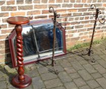 Metal towel rail, Victorian style plant stand & wall mirror