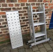 Set of aluminium multi purpose ladders EN131