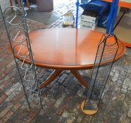 Regency style coffee table, wire CD rack & a wine rack