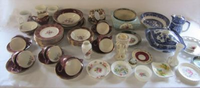 Various ceramics inc Empire part dinner / tea service, Aynsley, Wedgwood, Coalport and Limoges (2