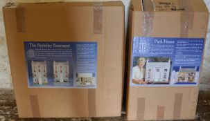 2 boxed The Dolls House Emporium doll's house kits: Berkley Basement & Park House