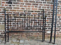 Brass and cast iron double bed frame