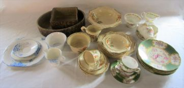 Selection of part tea services inc Fenton, Wellington China, Foley and Minton