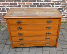 Victorian satinwood chest of drawers (split)