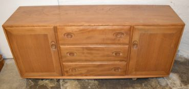1960's Ercol 3 drawer sideboard with Ercol labels L 156cm D 45cm H 69cm
