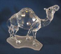 Boxed Swarovski silver crystal camel 247683 L 13 cm H 12 cm