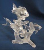 Boxed Swarovski school of fish crystal figure 666355 H 10 cm