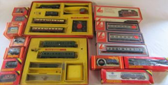 Hornby, Tri-Ang and Lima model train engines, carriages and track etc inc BR Class 08 Diesel