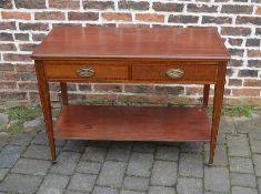 Edwardian serving table L 107 cm D 49 cm